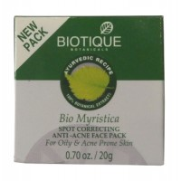 Biotique - Bio Myristica Spot Correcting Anti-Acne Face Pack 20 g